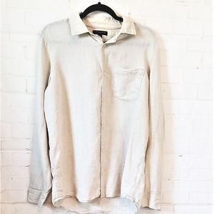 BANANA REPUBLIC SHIRT 100% LINEN MEDIUM